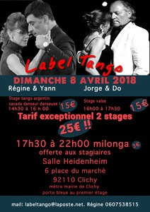stage de tango argentin avec LABEL TANGO
