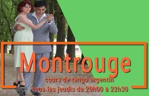 nous somme tous les jeudi soir à Montrouge la terrasse du CAM . cours de tango argentin deux niveaux